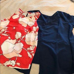 Pair of work blouses